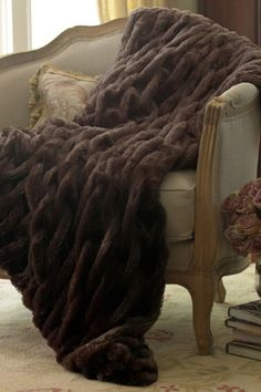 Paris Faux Fur Throw - Soft Surroundings.  Soft, comfy and French: just a few of my favorites things!
