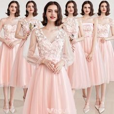 Affordable Pearl Pink Bridesmaid Dresses 2019 A-Line / Princess Appliques Lace Sash Short Backless Wedding Party Dresses Affordable Pearl Pink Bridesmaid Dresses 2019 A-Line / Princess Appliques Lace Sash Short Backless Wedding Party Dresses Pink Bridesmaid Dresses Short, Lace Bridesmaid Dresses, Wedding Party Dresses, Homecoming Dresses, Backless Dresses, Dress Brokat, Cocktail Gowns, Backless Wedding, Celebrity Dresses