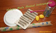 Nature Made Musical Instruments Free, easy, and super fun! Nature made musical instruments. Instrument Craft, Making Musical Instruments, Homemade Instruments, Music Instruments, Preschool Music, Music Activities, Teaching Music, Nature Activities, Preschool Themes