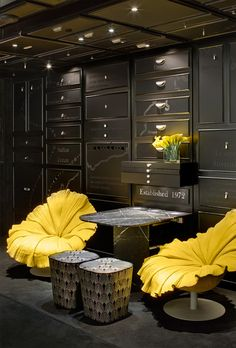 Bloom chairs #yellow