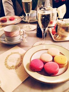 macarons and champagne