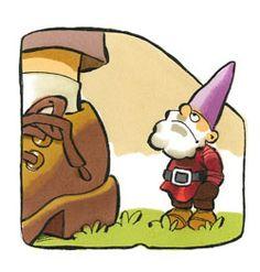 Een spelletje over het verschil tussen reuzen en kabouters Show And Tell, Happy Planner, Gnomes, Autumn Leaves, Bowser, Activities For Kids, Cards, Fictional Characters, Elves