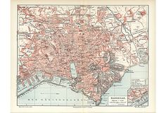 Bois De Boulogne 1965 Old Vintage Map Plan Chart Art France