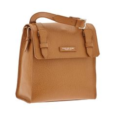This leather crossbody men's bag from The Bridge features a no-frills, practical design. Minimal and classy, this bag is the perfect accessory for travel and leisure. Front flap with snap button closure. Size 31X29x15 cm. #TheBridgeBags
