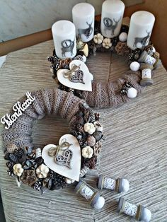 72 Trend Simple Rustic Winter Christmas Centerpiece – Welcome My World Scandinavian Christmas, Modern Christmas, Winter Christmas, Handmade Christmas, Christmas Time, Christmas Advent Wreath, Xmas Wreaths, Christmas Candles, Advent Wreaths