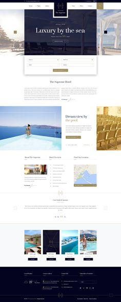 The Supreme - Luxury Hotel Hotel Website Design, Travel Website Design, Luxury Website, Hotel Website Templates, Web Hotel, Website Themes, Website Ideas, Website Designs, Web Design Projects