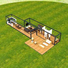 Next Container – Next Container - Duad Lorem 2 : tarz Prefabrik ev Building A Container Home, Container Cabin, Container Buildings, Storage Container Homes, Container Architecture, Container Design, Container Gardening, Architecture Design, Shipping Container Home Designs
