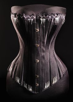"""Corset ca. 1893-97 From the exhibition """"A Century of Style: Costume and Colour 1800-1899″ at Glasgow Museums"""