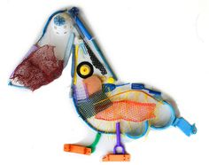 Beach Plastic Art: Pelican by 3rd Graders by cproppe, via Flickr