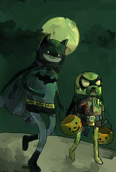 Adventure Time - Finn and Jake - Batman and Robin