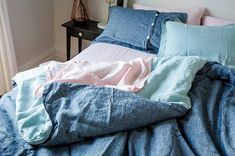 Linen Sheets, Linen Bedding, Bed Sheets, Duvet, Linen Bedroom, Bed Linens, Heavenly Bed, Room Colors, Luxury Bedding