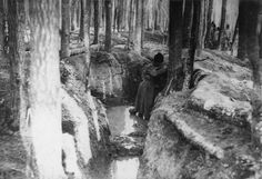 THE ROMANIAN ARMY IN THE ROMANIAN CAMPAIGN, 1916-1918 - note water in bottom of trench