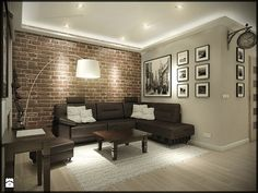 design ideas home Brick Interior, Home Living Room, Interior Design Living Room, Living Room Decor, Home Office Design, House Design, Rustic Room, Condo Living, Dining Room Design