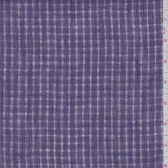 Purple and sheer. This light/medium weight linen has a 1/4