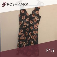 Forever 21 black and pink floral dress Cute dress perfect for date night! Worn once to try on but it was too big. Forever 21 Dresses