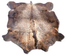 Bison Robe Hide Size: 7.4' x 6.4' Natural Tanned Bison