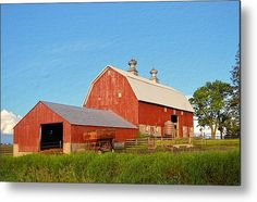 Reed Avenue Barn Textured Metal Print By Bonfire #Photography