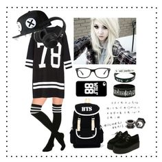"""Kpop(≧∇≦)"" by vickiwolf ❤ liked on Polyvore featuring Skullcandy and Ray-Ban"
