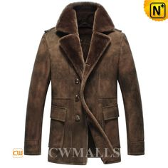 CWMALLS Mens Vintage Brown Sheepskin Coat CW871308 Winter brown sheepskin coat for men, crafted from imported sheepskin which feels supple and gives it a vintage look, handsome epaulets and flap pockets, neat stitching and sheepskin covered edge, this brown sheepskin coat is best for winter. www.cwmalls.com PayPal Available (Price: $1537.89) Email:sales@cwmalls.com