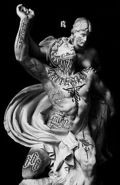 Best Leg Tattoos, Leg Tattoo Men, Dark Art Tattoo, Grey Tattoo, Arte Cholo, Geometric Art Tattoo, Gangsta Tattoos, Arte Hip Hop, Ancient Egypt Art