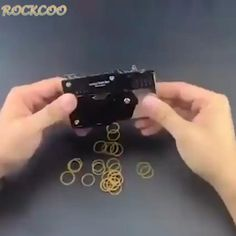 Pocket Rubber Banders Reloading Ammo, Cool Paper Crafts, Trigger Happy, Sig Sauer, Slingshot, Rubber Bands, Sounds Like, Black Silver, Cool Things To Buy