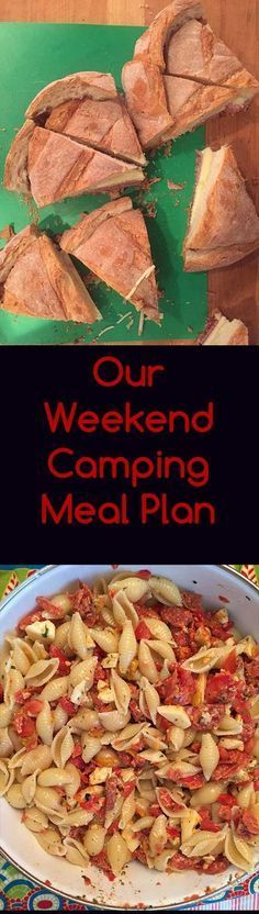 Meal plan for our camping trip! Campfire recipes and make-ahead food prep to make your camping trip a breeze!