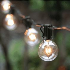25 Ft Clear Globe String Lights Set with 25 Bulbs Included. Globe String Lights with Clear Bulbs, UL listed Backyard Patio Lights, Hanging Indoor/Outdoor String Light for Bistro Pergola Deckyard Tents Market Cafe Gazebo Porch Letters Party Decor, Black. Globe String Lights, Indoor String Lights, Hanging Lights, Light String, String Lighting, Festoon Lights, Fairy Lights, Drop Lights, Solar Lights