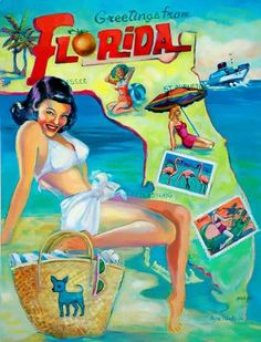 Greetings From Fllorida ( $120.00-16 X 20 )***( $65.00-11 X 14 )