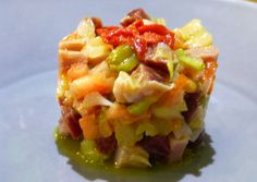 Tartar de jamón ibérico y dulce Macaroni And Cheese, Cabbage, Vegetables, Ethnic Recipes, Food, Appetizers, Salads, Cooking, Entrees