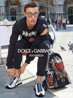 Cameron Dallas rocks sunglasses for Dolce & Gabbana's spring-summer 2018 eyewear campaign.