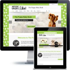 The Puppy Baby Book E-commerce website built with Wordpress using responsive web design.