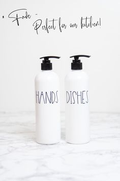 This super easy kitchen upgrade couldn't be faster.  The white hand and dish soap bottles make your kitchen look clean and organized in just 60 seconds.  Farmhouse Kitchen Decor - Refillable Soap Bottles for Kitchen - Home Decor Gifts - Housewarming Gifts - Modern Farmhouse - Home Organization for Kitchen Farmhouse Kitchen Decor, Farmhouse Design, Home Decor Kitchen, Modern Farmhouse, Small Space Organization, Kitchen Organization, Dish Soap Dispenser, Kitchen Upgrades, Housewarming Gifts