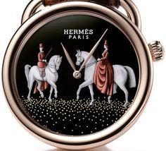 Hermes watch with decorated horses Equestrian Chic, Equestrian Jewelry, Equestrian Fashion, Richard Mille, Patek Philippe, Audemars Piguet, Devon, Cartier, Versace