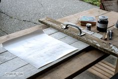 Dry fit your tray / Make festive, reclaimed wood tray in 1 hour! Great gift idea! By Funky junk Interiors for Ebay