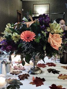 Fall wedding table centerpiece