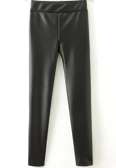 Shop Black Slim PU Leather Pant online. Sheinside offers Black Slim PU Leather Pant & more to fit your fashionable needs. Free Shipping Worldwide!