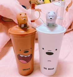 We bare bears Copo Starbucks, Cute Water Bottles, We Bear, Cute Cups, Bear Wallpaper, We Bare Bears, School Supplies, Cool Things To Buy, Canning