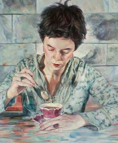 "Saatchi Art Artist Agnes Toth; Painting, ""Tea at Buckingham"" #art"