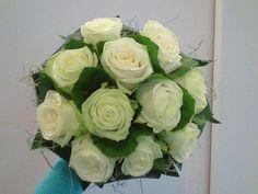 bruidsboeket - biedermeier witte rozen falenopsis boechout