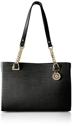 Anne Klein City Dweller Small Tote BagBlackBlackOne Size *** To view further for this item, visit the image link.