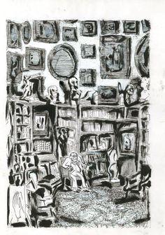 Portrait de Sacha Guitry Encre de chine BLUTCH Personal Identity, Art Graphique, Oscar Wilde, Comic Artist, Installation Art, Comic Strips, Pattern Design, Images, Photo Wall