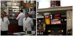 Nova Capela, White coated Waiters And Neon Chope Sign