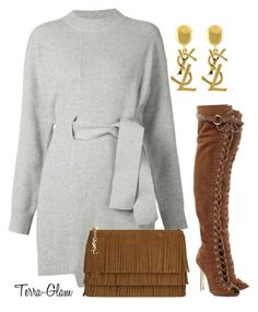 """""""Sweaters & Suede"""" by terra-glam ❤ liked on Polyvore featuring Proenza Schouler, Emilio Pucci and Yves Saint Laurent"""