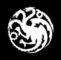 House Targaryen / Game of Thrones vinyl decal in choice of color (must request mirror cut to use in car window)