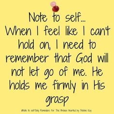 *•♥ Note to Self ♥•*