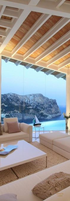 Bird House by Alberto Rubio. Gorgeous modern beach house. Ocean view modern living room. Contemporary coastal living.