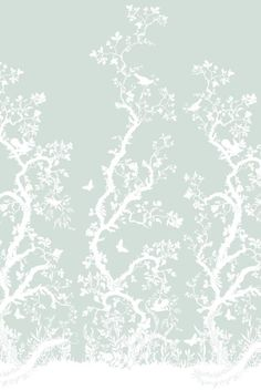 Birdbranch Hand Printed wallpaper panel by Timorous Beasties Wallpaper Panels, Home Wallpaper, Pattern Wallpaper, Print Wallpaper, Timorous Beasties, Glasgow School Of Art, Blue Wallpapers, Paper Background, Chinoiserie