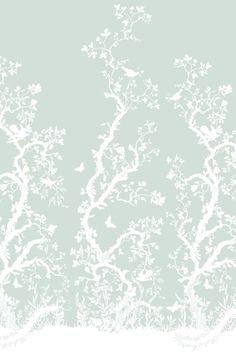 Birdbranch Hand Printed wallpaper panel by Timorous Beasties Wallpaper Panels, Home Wallpaper, Textured Wallpaper, Pattern Wallpaper, Beautiful Wallpaper, Print Wallpaper, Fabric Covered Walls, Timorous Beasties, Glasgow School Of Art