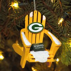 Green Bay Packers Wooden Adirondack Chair Ornament at the Packers Pro Shop
