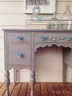 The most simple things in life are often the most beautiful. We believe in bringing a little piece of that simple beauty into every home. Enjoy handcrafted items from right here in the PNW and other small home decor items that you will love forever! Grey Painted Furniture, Chalky Paint, Furniture Projects, Home Decor Items, Decorative Items, Entryway Tables, Vanity, Simple, Buffet
